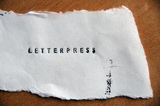 Letterpress scrap