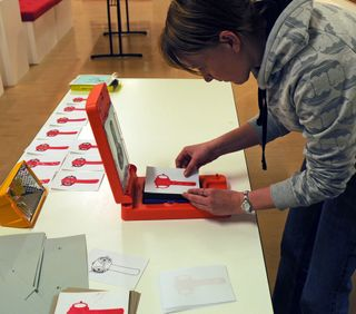 Gocco printing in action