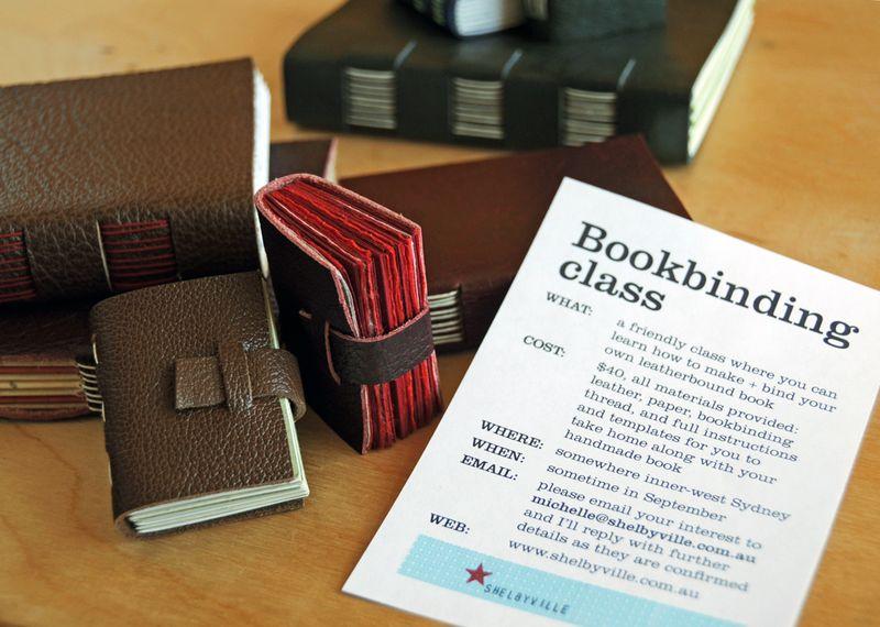 Bookbinding class