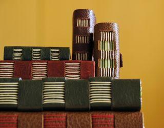 Book stack_closeup