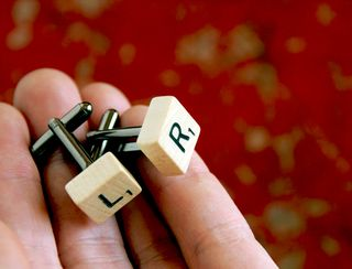 Scrabble cufflinks_L+R_inhand