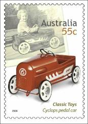 Classic toys postage stamp