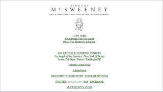 Mcsweeneys website