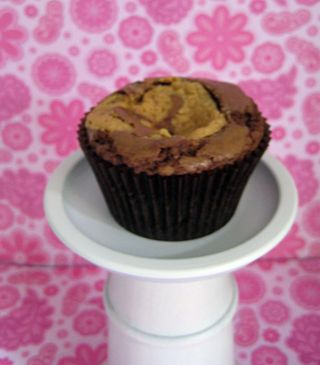 Peanut brownie cupcake