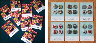 Bingo pendants & badge sets