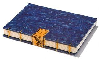 Blue cover coptic book