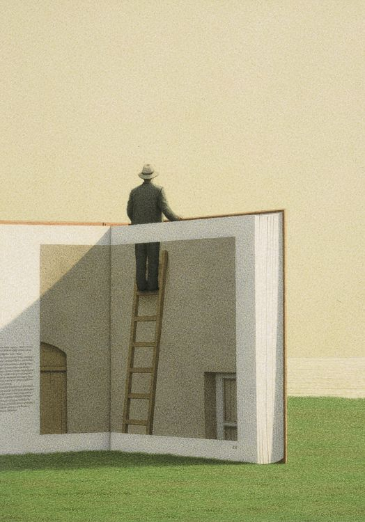 Man on a Ladder