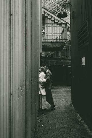 Alleyway kiss