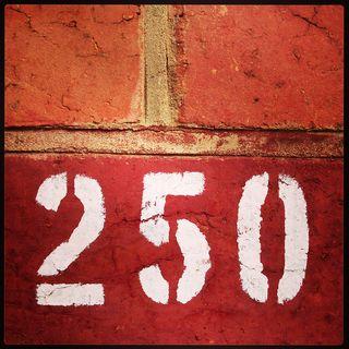 250 on brick
