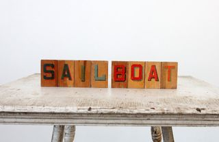 Sailboat wooden block type