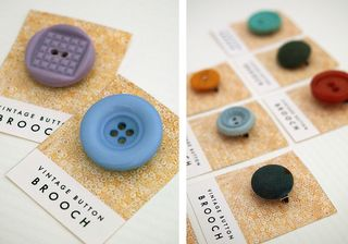 Vintage button brooches_macro_1
