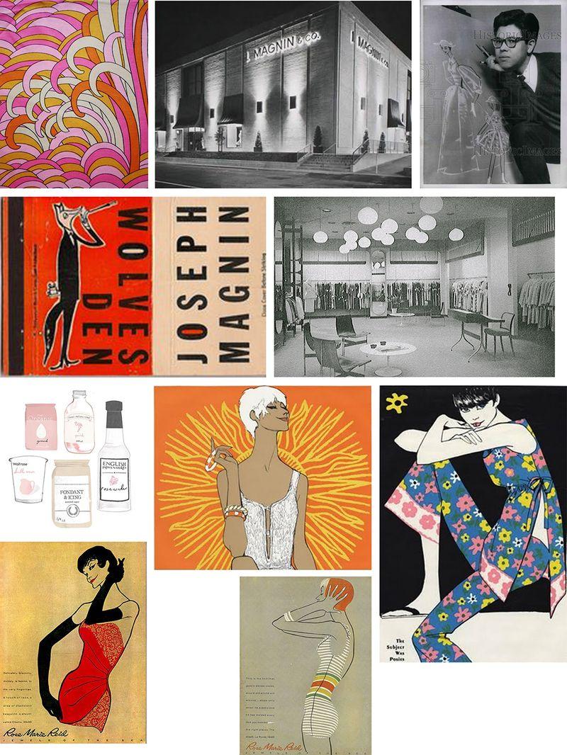 60s illustration & packaging & dept stores