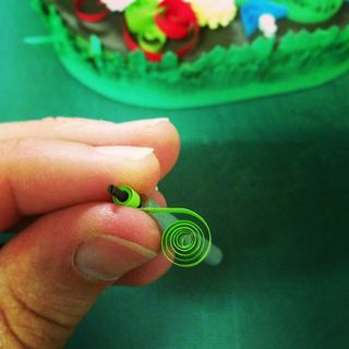 Letter G_Michelle_quilling in action