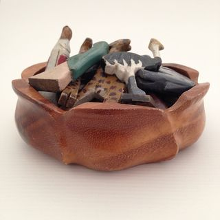 Wooden ark animals_in bowl
