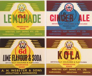 Vintage soda labels