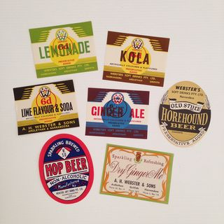 Vintage soda labels_all