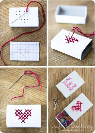 Embroidered matchbox