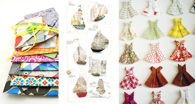 Envelopes + boats + dresses