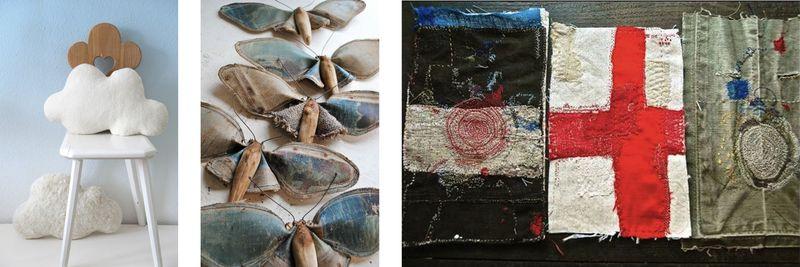 Cushions + soft sculpture + fabric books
