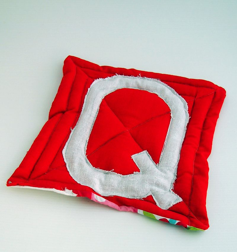 LetterQ_Maryanne_red quilt