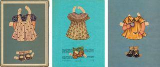 Vintage paper doll collages