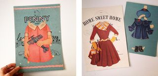 Vintage paper doll collages_2