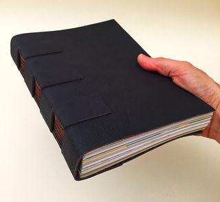 A5 plum cross structure journal