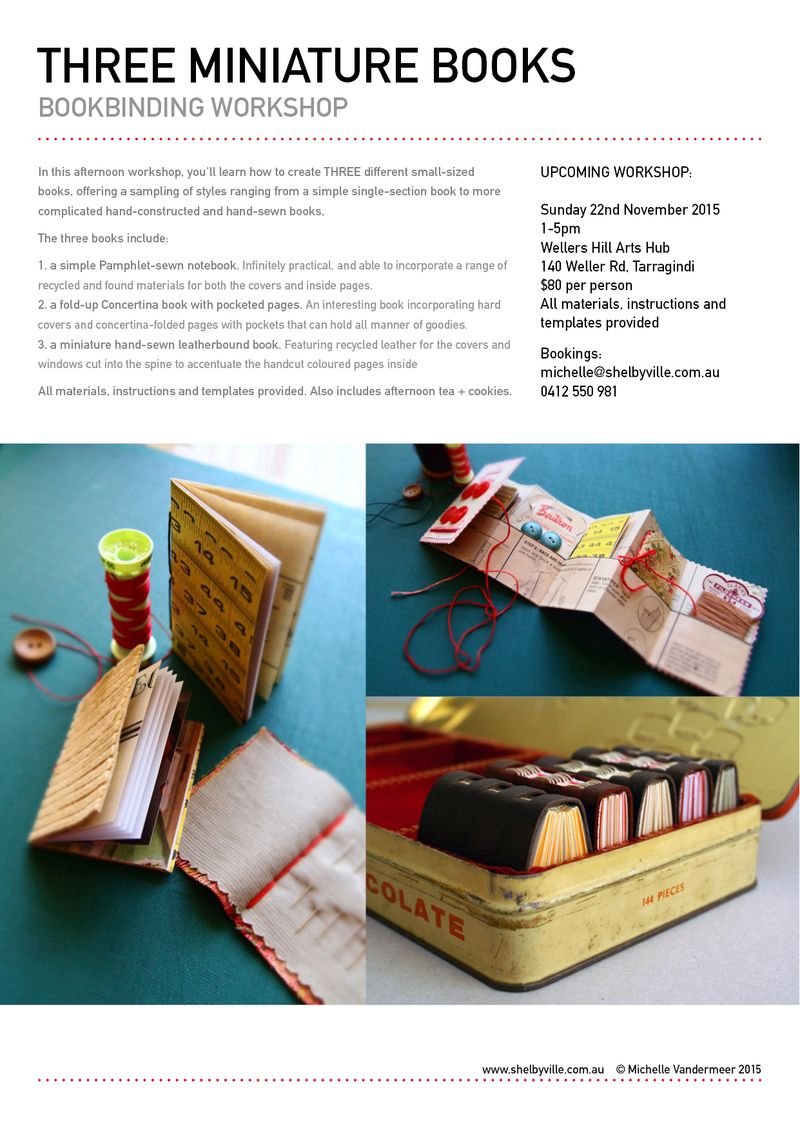 Bookbinding workshop_Mini books_22Nov2015