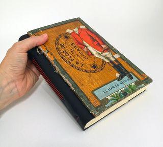 Cigar box lid_Longstitch book_sml