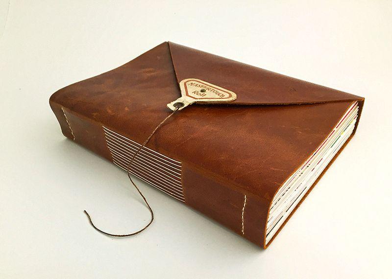 Wraparound leather journal_longstitch