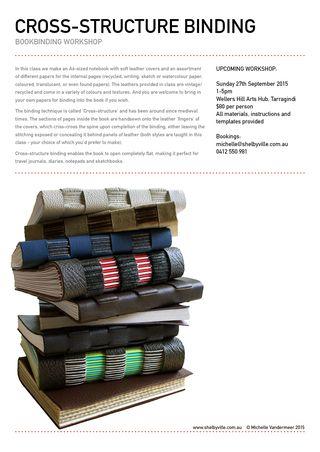 Bookbinding workshop_Cross structure_Sept2015