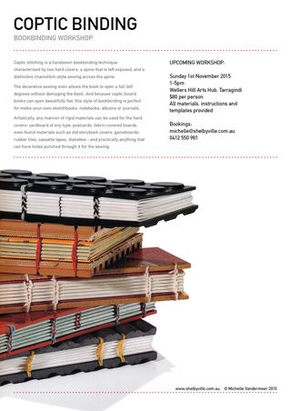 Bookbinding workshop_Coptic_Nov2015