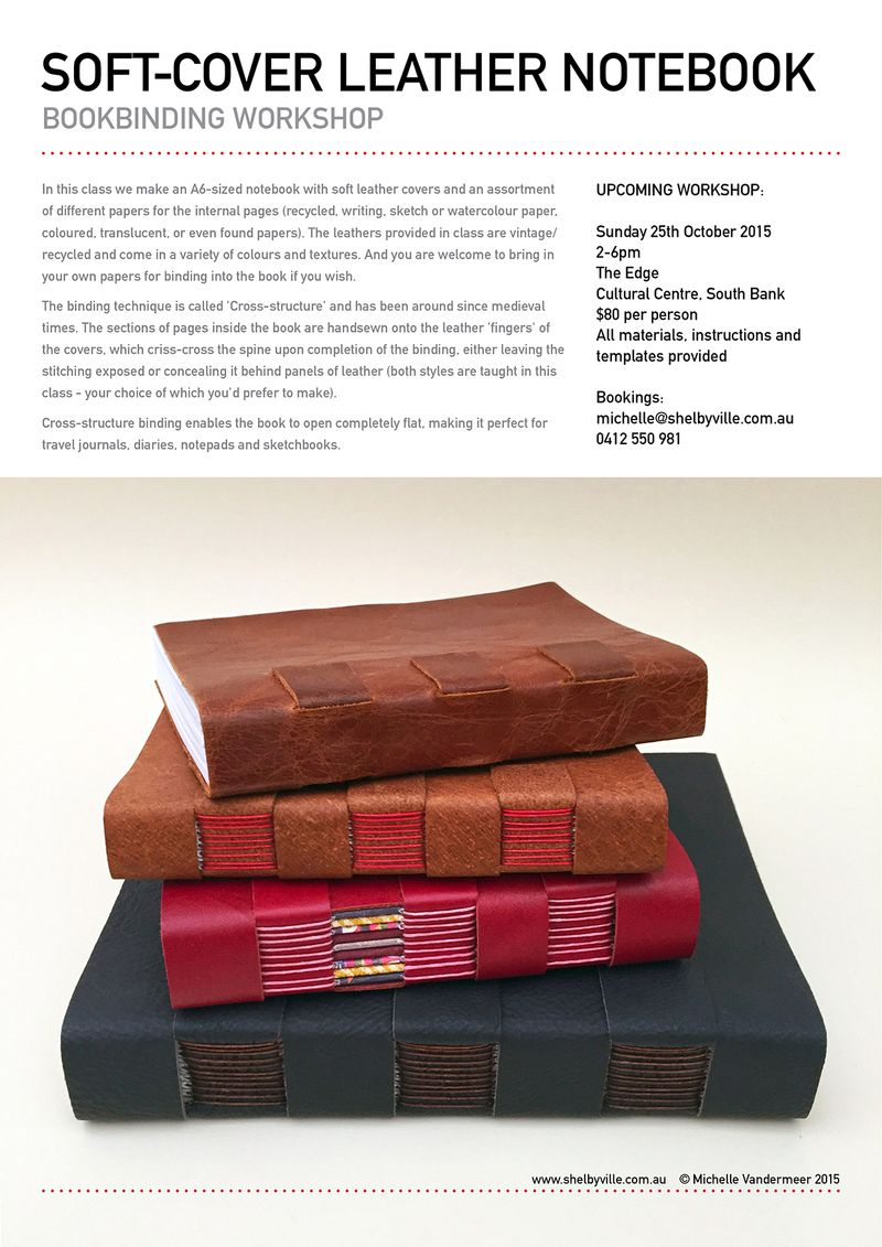 Bookbinding workshop_Leather notebook_Oct2015
