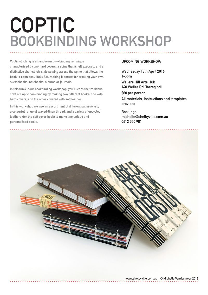 Bookbinding workshop_Coptic_April2016