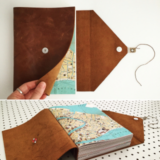 Caramel leather wrap journal_sml