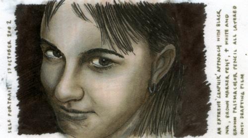 Self-portrait graphik_2002